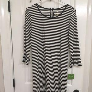 NWT Kate Spade black and white stripe sleep dress